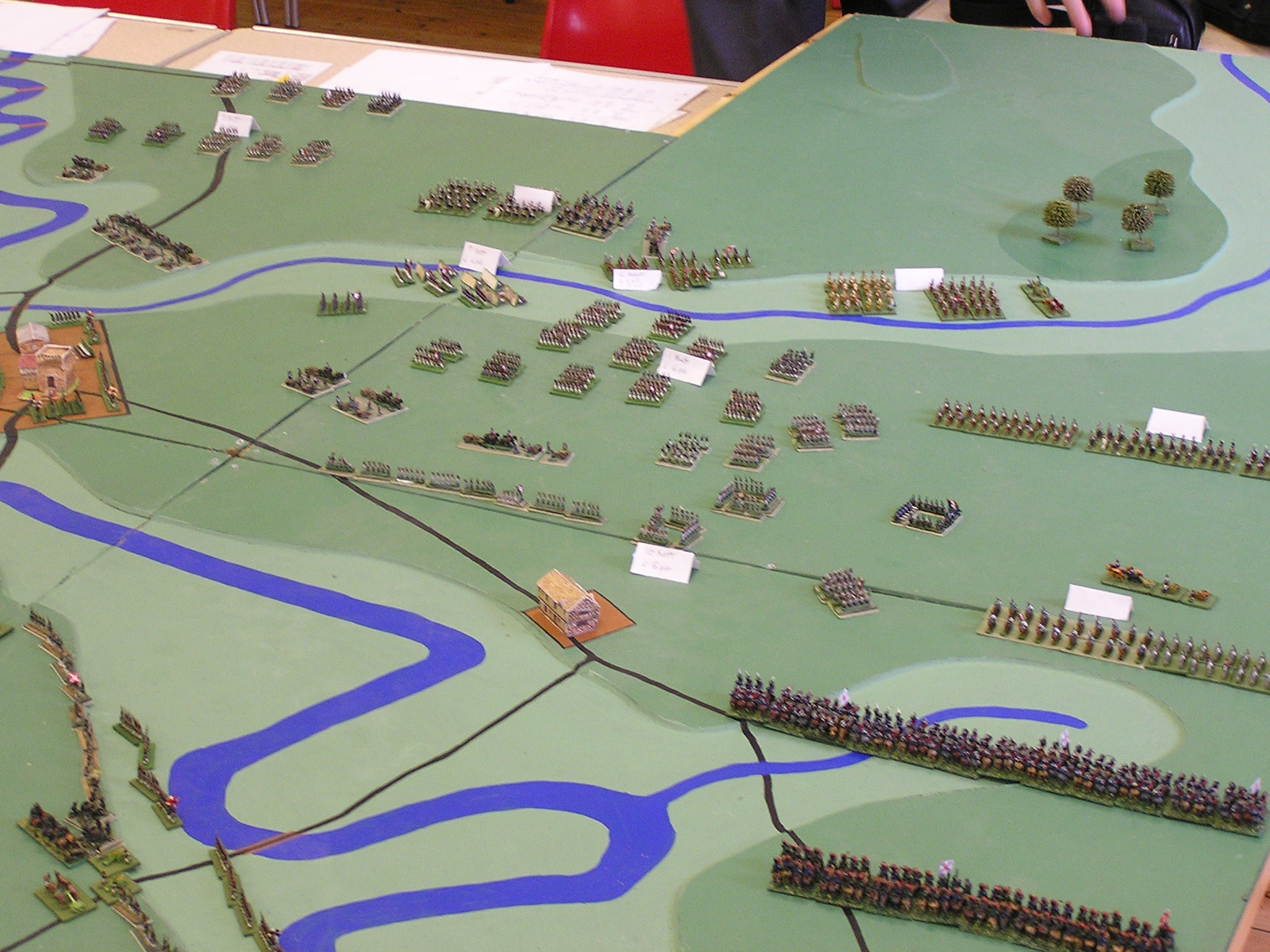 French cavalry advance in North