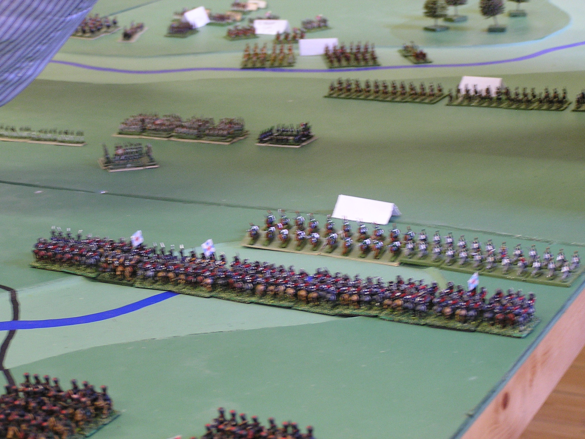 French Cavalry attempt to slow down the cossack advance