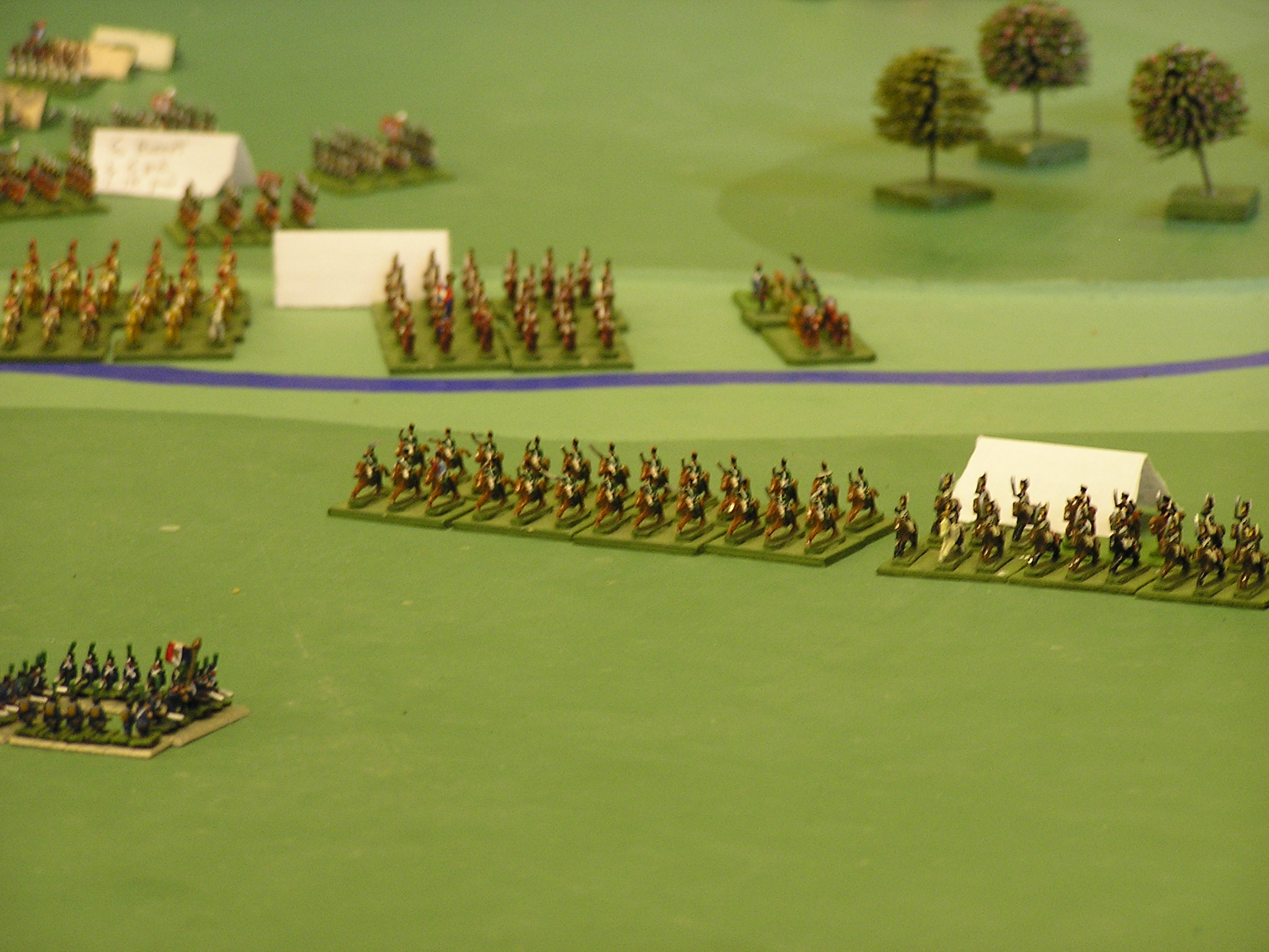 French cavalry advance in the North