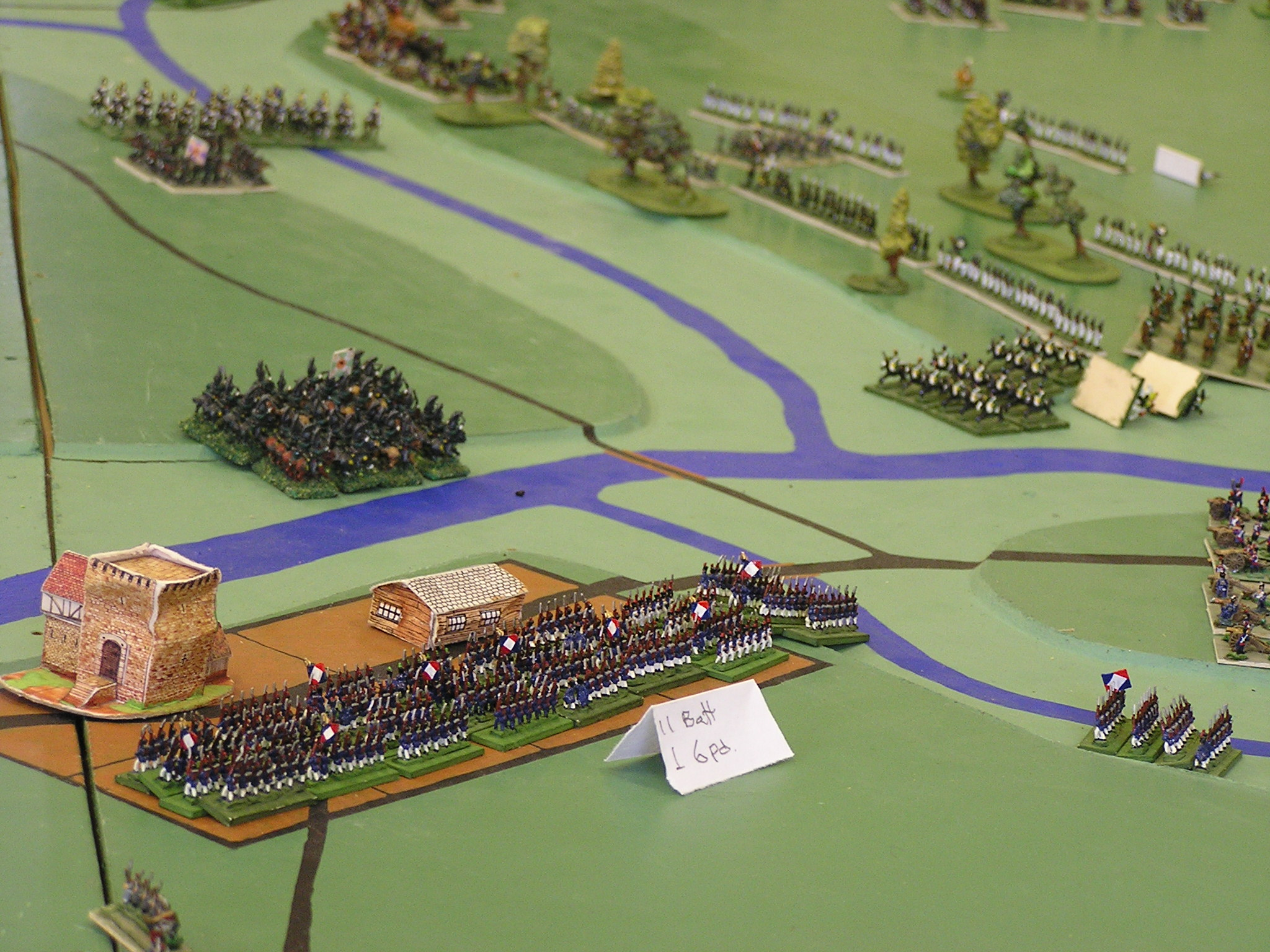 French supporting cavalry repulsed