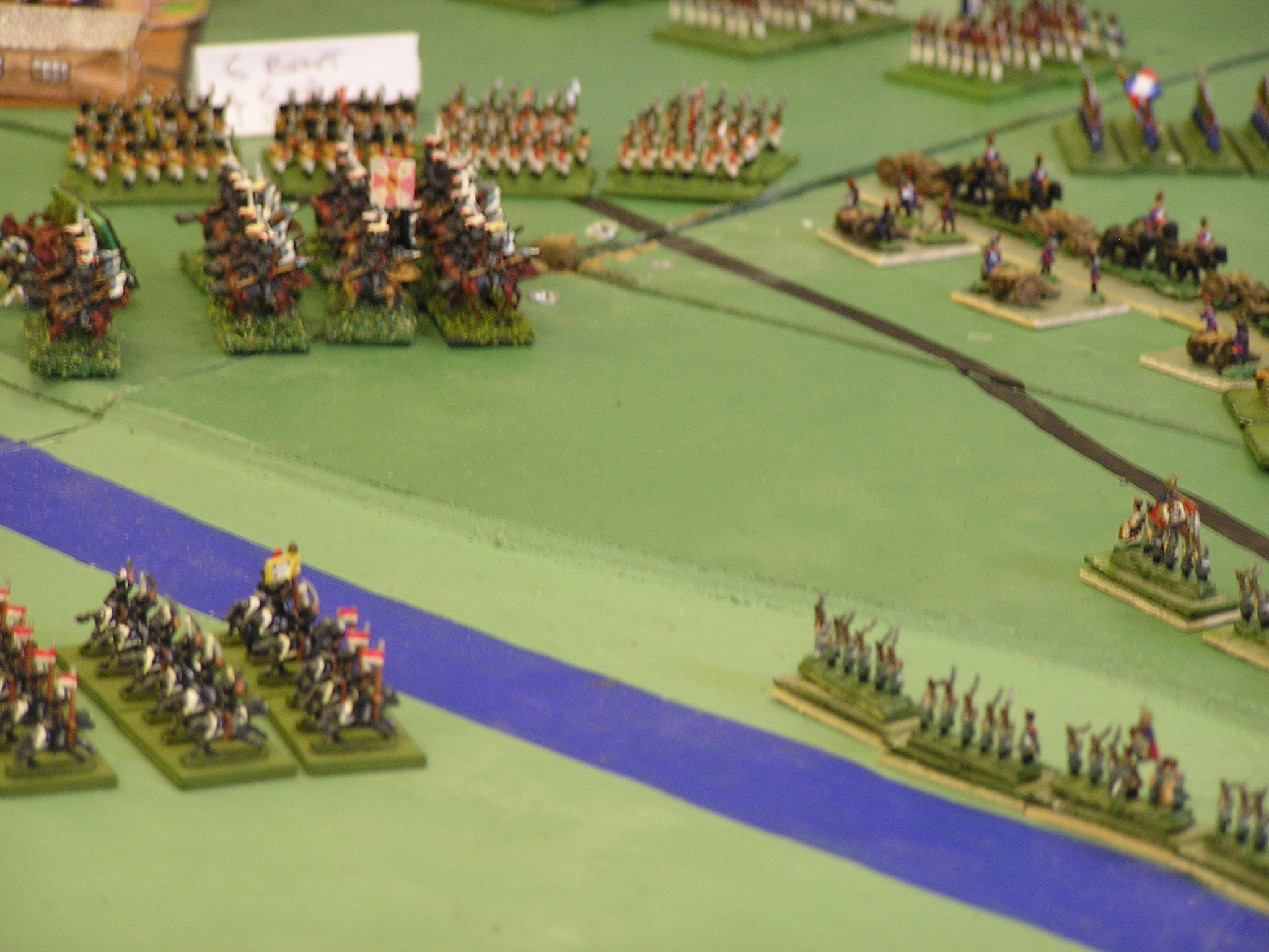 Russian cavalry counterattack north of Borodino